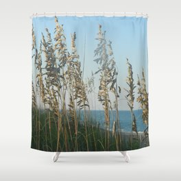 Beach Grass and Ocean at Dusk  Shower Curtain
