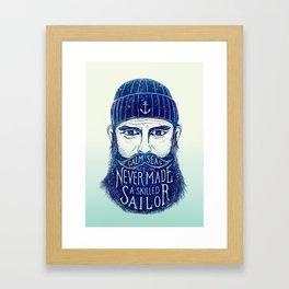 CALM SEAS NEVER MADE A SKILLED (Blue) Framed Art Print