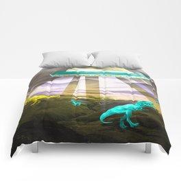 Aliens do exist - dino exctinction event Comforters