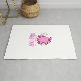 I Just Really Like Pigs Rug