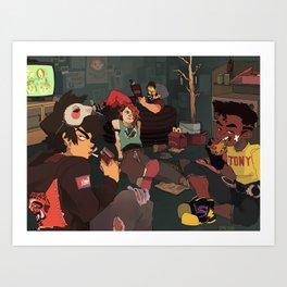 Teenagers Art Print