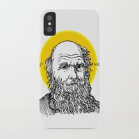 darwin iPhone & iPod Cases featuring St. Darwin by Kexit guys