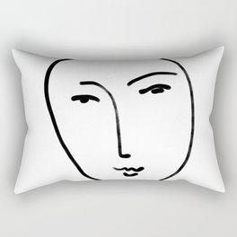 Matisse Line art Face #2 Rectangular Pillow