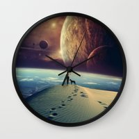 dog Wall Clocks featuring Explorer by POP.