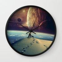 motivational Wall Clocks featuring Explorer by POP.