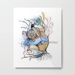 Mermaid Mantra Metal Print