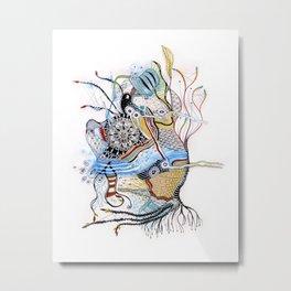 Mermaid Mantra Metal Print