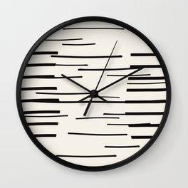 Abstract moon reflection  Wall Clock