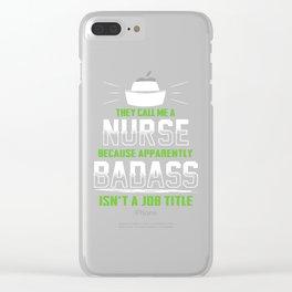 nurse nurse nurse hospital doctor Clear iPhone Case