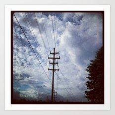 Sky Cables Art Print