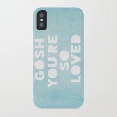 Gosh (Loved) Blue  Slim Case iPhone X