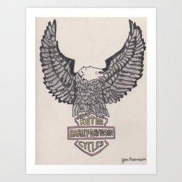 HD Eagle Art Print