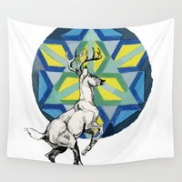 stag Wall Tapestries featuring STAG by The Traveling Catburys