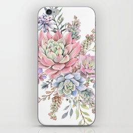 succulent watercolor 9 iPhone Skin