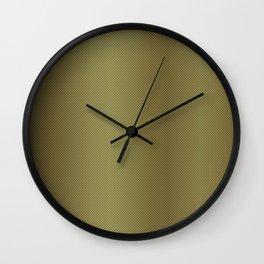 Gold Burnished Metallic Carbon Fiber Pattern Wall Clock