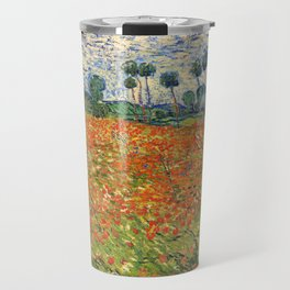 Poppy Field by Vincent van Gogh, 1890 painting Travel Mug