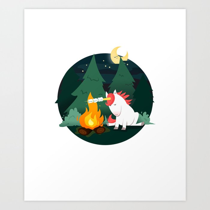 Forest of the Unicorn Art Print