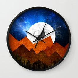 Night Shadow Wall Clock