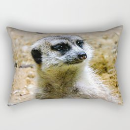 Meerkat vibin' Rectangular Pillow
