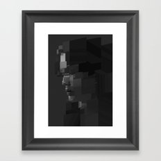 Facet Grey Framed Art Print