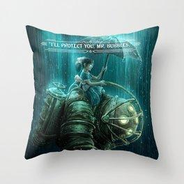 Bioshock Little Sister, Big Daddy Throw Pillow