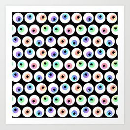 Lovely Sparkly Rainbow Eyeballs Art Print
