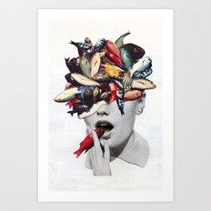 Ωmega-3 Art Print