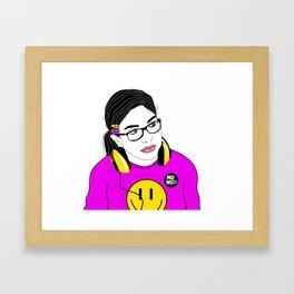 Dj Katia Framed Art Print