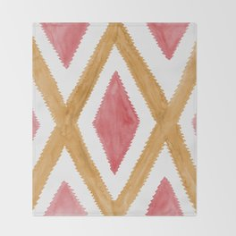 Del Rio Watercolor in Yellow and Pink Throw Blanket