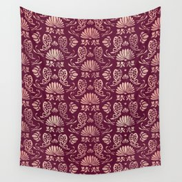 Classic Floral Pattern Wall Tapestry