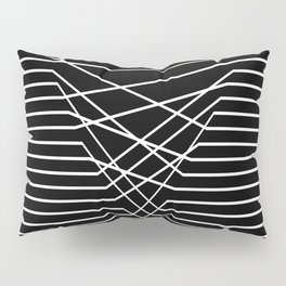 Line Complex Dark Triangle Pillow Sham