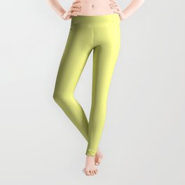 Lemon Chiffon Flat Color Leggings