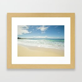 kapalua beach maui hawaii Framed Art Print