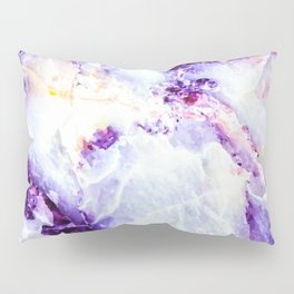 Abstract marble purple colorful Pillow Sham