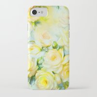 shabby chic iPhone & iPod Cases featuring Shabby Chic Yellow by Jacqueline Maldonado