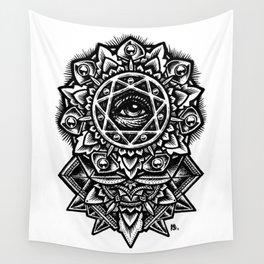 Eye of God Flower Wall Tapestry