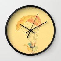 daredevil Wall Clocks featuring Daredevil Dodo by KikiDeenah&Dudley Art