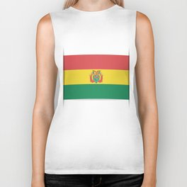 Flag of Bolivia. The slit in the paper with shadows. Biker Tank