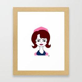 Jackie in Pink Framed Art Print