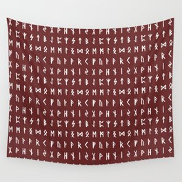 Nordic Runes // Monarch Red Wall Tapestry