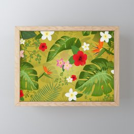Tropical Flower Background 3 Framed Mini Art Print
