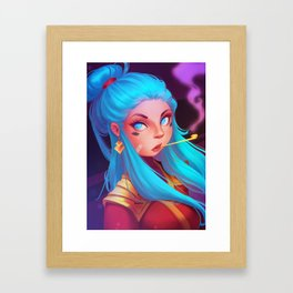 Blowing Off Steam Framed Art Print