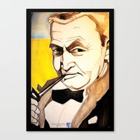 fitzgerald Canvas Prints featuring Barry Fitzgerald by Jessica Tobin
