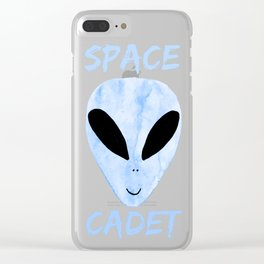 Blue Space Cadet Clear iPhone Case