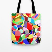 musa Tote Bags featuring Love Doodles by DeMoose Art