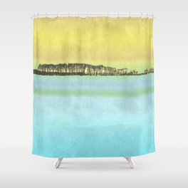 River view - Autumn Shower Curtain