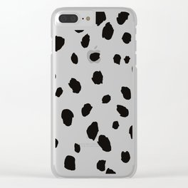 Animal Print Illustration Clear iPhone Case