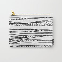 Rippled Water Graphic Pattern Carry-All Pouch