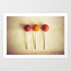 Lollypops Art Print
