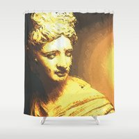 apollo Shower Curtains featuring Apollo III by Jerry Watkins